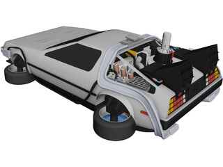 DeLorean DMC-12 CAD 3D Model