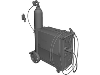 MillerMatic 210 Mig Welder CAD 3D Model