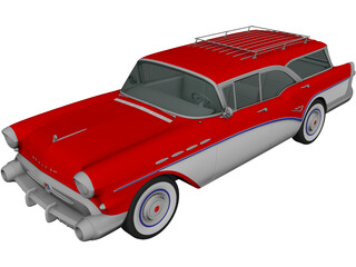 Buick Century Caballero Wagon (1957) 3D Model 3D Preview