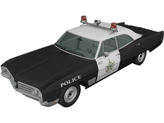 Buick Wildcat Police (1968) 3D Model