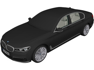 BMW 7-Series (2016) 3D Model 3D Preview