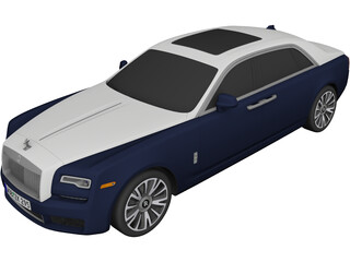 Rolls-Royce Ghost (2018) 3D Model
