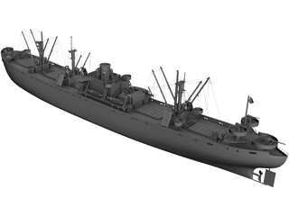 USS John W. Brown Liberty 3D Model