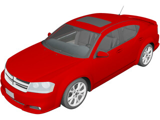 Dodge Avenger RT (2012) 3D Model