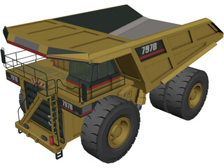 Caterpillar 797B 3D Model 3D Preview