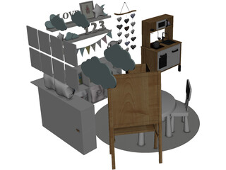 IKEA Children Set 3D Model