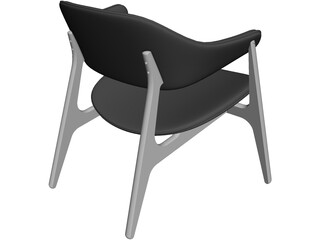 Span Lounge Chair CAD 3D Model