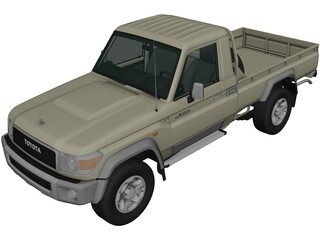 Toyota Land Cruiser [J79] (2007) 3D Model