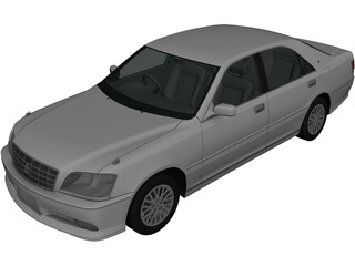 Toyota Crown S170 (2001) 3D Model