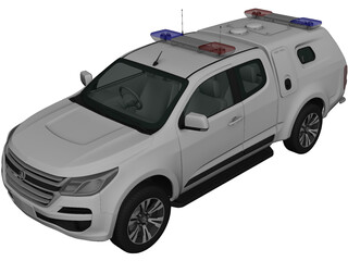 Holden Colorado SpaceCab Divisional Van (2018) 3D Model
