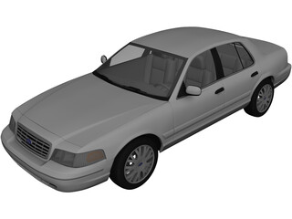 Ford Crown Victoria (2005) 3D Model