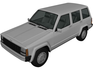 Jeep Cherokee XJ (2000) 3D Model 3D Preview