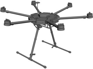 UAV Copter M600 3D Model 3D Preview