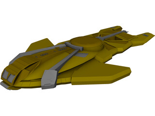 Star Trek Cardassian Hideki 3D Model 3D Preview