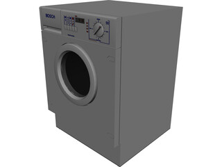 Bosch WVT12840EU Washing Machine with Dryer 3D Model