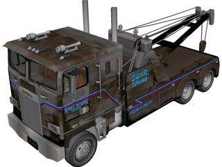 Kenworth K-100 Wrecker 3D Model