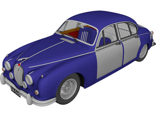Jaguar Mark II 3D Model