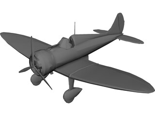 Mitsubishi A5M Claude 3D Model