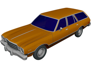 Plymouth Volare Wagon (1977) 3D Model
