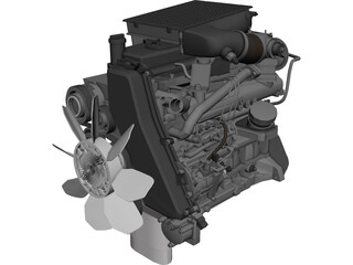Engine Toyota D4D 3D Model