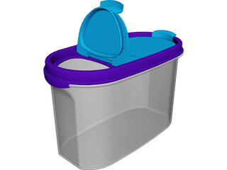 Tupperware Box 3D Model