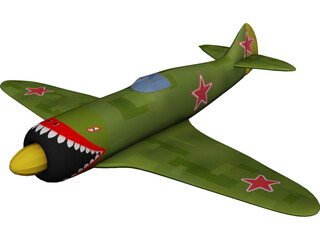 Lavochkin La-5 3D Model 3D Preview