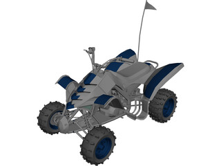 Yamaha Quad 3D Model