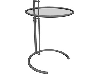 Barcelona Cocktail Table 3D Model