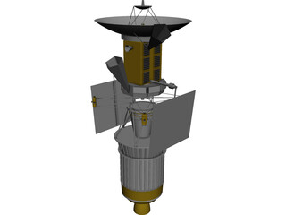 Magellan Probe with Booster 3D Model