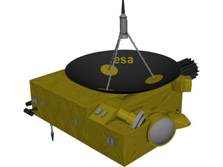 Ulysses ESA Sun Probe 3D Model 3D Preview