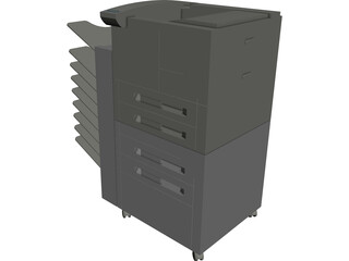 Xerox Copier Machine 3D Model