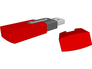 Transcend USB Memory Stick 3D Model