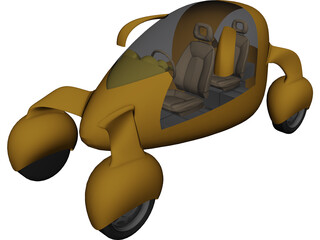 Electric Bubble Car 3D Model