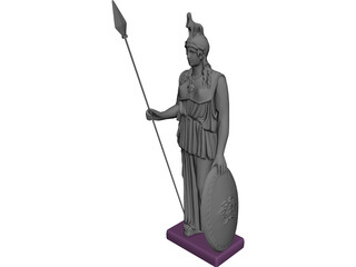 Athena 3D Model 3D Preview