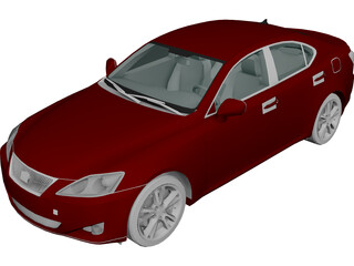 Lexus IS 350 (2006) 3D Model