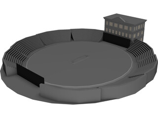 Cricket Ground 3D Model