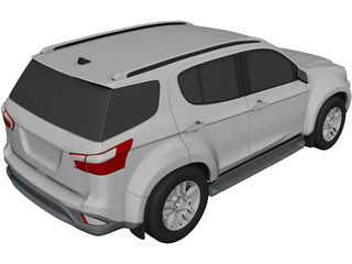 Isuzu Mu-X (2020) 3D Model 3D Preview