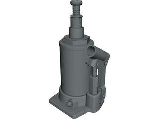 Hydraulic Jack 3D Model 3D Preview