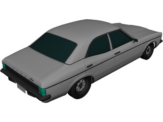 Ford Cortina MK III 2000E (1976) 3D Model