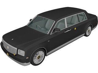 Toyota Century Royal (2006) 3D Model 3D Preview