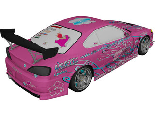 Nissan Silvia S15 Yashio Factory Drift 3D Model