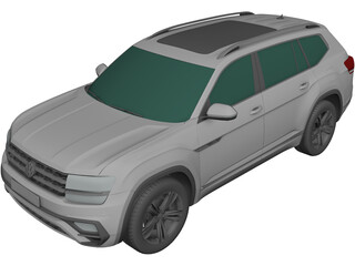 Volkswagen Atlas R-Line (2017) 3D Model