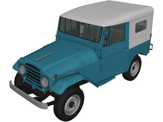Toyota Land Cruiser [J20] (1958) 3D Model