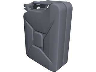 Jerry Can 20 Litres CAD 3D Model
