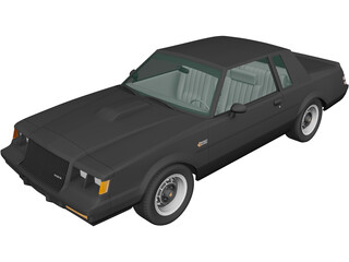 Buick Regal Grand National Coupe (1987) 3D Model