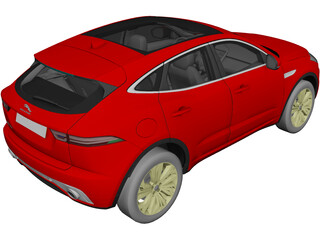 Jaguar E-Pace (2018) 3D Model 3D Preview