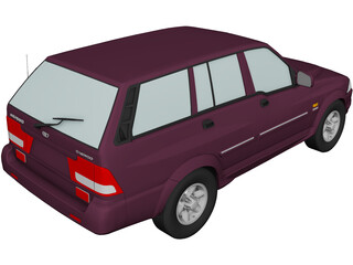 Daewoo Musso 3D Model
