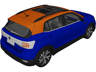 Volkswagen T-Cross (2019) 3D Model