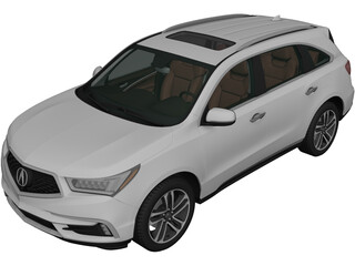 Acura MDX (2017) 3D Model 3D Preview