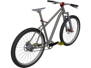 Mountain Bike CAD 3D Model